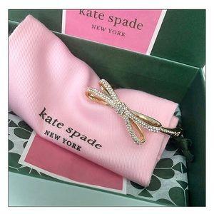 Kate Spade Tied Up Gold Pave Bow Bracelet Bangle